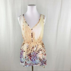 Dolled Up boho floral multicolor tank top